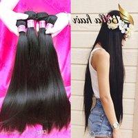 Bella Hair? 4pcs 11A Double Drown Brazilian Virgin Hair Bundles Peruvian Straight Hair Weave Unprocessed Raw Indian Human Hair Extensio Ecou