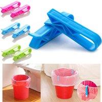 Bag Clips 2pcs Dustbin Clip Plastic Garbage Can Organizer Household Creative Slip-Proof Waste Bin Kitchen Storage Accessories