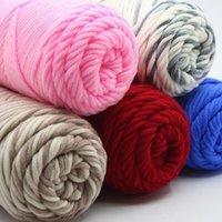 Пряжа 100% хлопок вязание мягкий теплый детский молочный нить руки вязаная толстая шерсть для шарфа ткачество вязание крючком