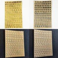 선물 포장 2 시트 알파벳 금속 스티커 DIY 수제 공예 에폭시 향수 촛불 석고 장식 레이블