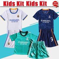 Kit Kits 2022 Camiseta Real Madrid Fútbol Jersey Home Benzema Modric Kroos 21/22 de distancia Camisa de fútbol Valverde Camavinga Niños 3er Uniformes de fútbol en venta