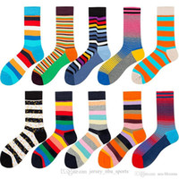 21 новейший хлопок смешные счастливые носки 10 стилей мода полоса носки для женщин мужчины на открытом воздухе дышащие мягкие уютные уютные чулки м879f