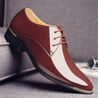 Dress Shoes Big Size Man Pointed Toe Classic Mens Patent Leather Black Wedding Oxford Formal Ghj78