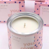 Velas perfumadas de moda Paquete individual de larga duración Pomelo Pomenruit Vanilla Soy Wax con perfumado Velas de regalo para HERS DHB5291