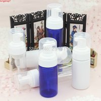 100 ml Schaumstoffflasche Kunststoffschaumpumpe Gesichtsreiniger 200ml Leeres Bule Weiße Kosmetikverpackung 20pcs / Lochgh Quatity