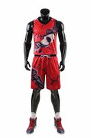 wholesale Customized men Basketball Uniforms,mens kits Sports clothes tracksuits Discount Cheap boy Basketball Sets tops With Shorts A30-17