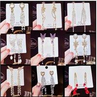 Wholesale 925 Silver Needle Tassels celebrity High Sense Dangle Earrings Korea Fringed Earrings Female European and American Vintage Jewelry fast ship