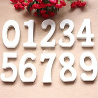 Novelty Items 8cm White Digital Wooden Ornaments Wedding Decoration Home Decor Bedroom Wood Letters Personalised Birthday Party Decorations