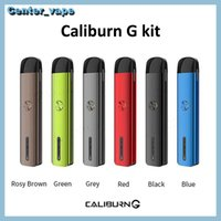 Uwell Caliburn G Pod System Kit mit 690mAh eingebauter Batterie 2ml Top-Fill-Patrone 18W MTL DTL VAPE PEN-Kit 100% Qualität