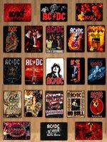 2022 Pop Star Tin Affiche Signe Vintage Rock ACDC Métal Pince Plaque Musique Tiki Bar Art Art Assiette Personnel Chambre Personnel Pouvoir Movie Pub Cafe Boutique Accueil Taille rétro 30x20cm