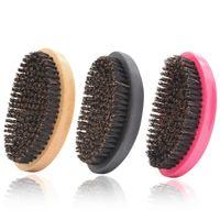 بريستل موجة فرشاة الشعر أمشاط الشعر لحية مشط كبير منحني الخشب مقبض مكافحة ساكنة فرشاة فرشاة مشط أدوات التصميم G1005