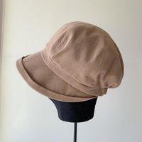 Stingy Brim Hats 2021 Spring Summer Style Lightweight Breathable Cotton Linen Cap Sen-line Octagonal Hat Sun Wild Casual Berets