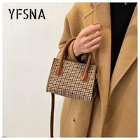 Shoulder Bags Women's Bag Vintage Houndstooth PU Leather Clutch Women Casual Top-handle Small Crossbody Purse