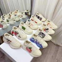 Rhyton Vintage Casual Shoes Homme Femmes Designers multicolores Sneakers Chaussures Mesdames Luxurys Formatrices de Brand Daddy Daddy Sneaker