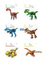 Loz Mystery Boxes Mini Bausteine von Dinosaurier, Auto, Militär Truck Engineering Fahrzeug, DIY Pädagogisches Spielzeug, Kind Weihnachtsgeschenk, 2-2