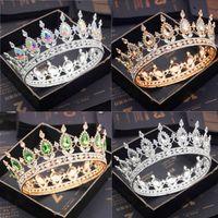 Noiva Roxo Roxo Roxo Rainha Rei Tiaras e Coroas Bridal Pageant Diadem Head Ornament Cabelo Do Casamento Jóias Acessórios