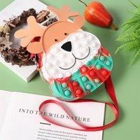 Fidget Bag Sensory Fidgets Toy Cute Moose Rabbit Silicone Bubble Crossbody Purse for Girls Christmas Party Favors Autism Stress Reliever - Newest Design, B 100