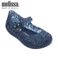 ميني ميليسا كامبانا 7 ألوان جوفاء فتاة جيلي الأحذية شاطئ الصنادل الطفل الاطفال الأميرة 210712