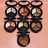 yutong makeup shimmer paleta de sombra 3 cores cosméticos esfumaçados conjunto profissional natural olho fosco sombra elegante glitter