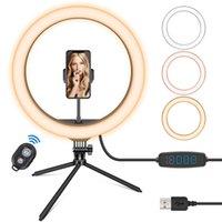 Acessórios para fotografia de telefone celular leve Ideal para selfie iluminação regulamental 360 ° Stand flexível USB alimentado e bluetooth controle remoto