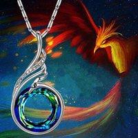 Criativo mulheres gradient colar colorido cristal penhão pingente colar senhoras festa jóias dia dos namorados presentes f70