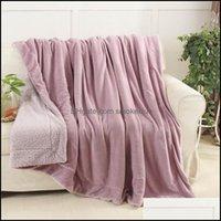 Decken Textilien Home GARDENBLANKETS PLEASE MASSE Dicke Winter Wurf Plaids Decke Warm Sherpa Berberfleece Bettwäsche Twin Queen Size BEDSP