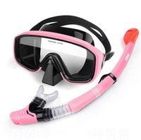 Diving Masks Snorkeling Mask Snorkel Tube Set Anti-Fog Swimming Goggles For Underwater Sports Camera