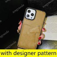 أحدث مصمم الأزياء الحالات الهاتف لفون 12 12Pro 11Pro ماكس xs xr xsmax 8plus أعلى جودة بطاقة جلدية الجيب غطاء الهاتف المحمول الفاخرة