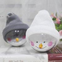 Noel Kardan Adam Plastik Temizle Topu Süslemeleri Noel Ağacı Süsler Yaratıcı Bebek Ev Dekorasyonu Kolye BWD10579