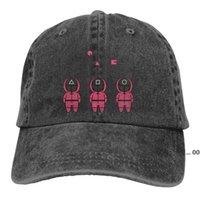 Bola Caps Three Shooter Squid Game O boné de beisebol Pico Capt Esporte Unisex Ao Ar Livre Costume Coreano TV Series Hats LLE10336