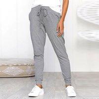 2021 Print Slim Broek Beam Foot Casual Foot Catwalk Broek Draft Mid Tail Broek With Pockets Jogging Pants
