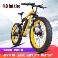 전기 자전거 가변 속도 버전 전자 자전거 26 인치 ATV 스노 모빌 산악 자전거 1000W 라이트 알루미늄 4.0 지방 타이어