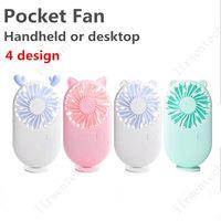 Mini ventilador de mano recargable portátil con carga USB de carga extraíble Mini mini ventiladores al aire libre bolsillo plegable batería libre