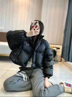 Donne giù Parks Maniche lunghe Giacca a maniche lunghe calda giacca a vento cappotto stile corto per lady slim giacche in inverno outwears con lettere budge due colori opzioni cappotti giù