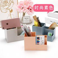 Multifunctional Creative Simple Pen Desk Sorting Box Girl Makeup Brush Holder Desktop Storage Shelf