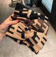 Ретро вязание вязание брендовой бренду Письмо Prind полоса эластичный оголовье для женщин и мужчин мода мода полосы волос для женщин-девочки ретро тюрбан заголовок