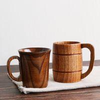 Canecas Canecas de madeira Proteção Ambiental Log renovável caneca de chá de madeira rosas xícaras de chá de chá de chá verde KKB4963