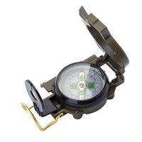 Mini Military Lensatic Watch Pocket Compass Lupe Army Green Green für Camping Jagd Marching, Freies Verschiffen Großhandel HM351 129 W2