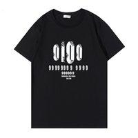 Estilo de diseñador Camiseta para hombres Ocio de verano Tendencia de alta calidad Vestido de manga corta de mujer Imprimir Patrón de letra de la tripulación