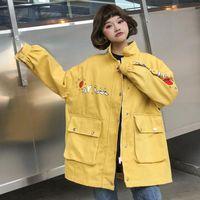 Women's Jackets Denim Fashion Female Spring Jacket Plus Size Clothing Long Sleeves Cowboy Coats Casual Loose Autumn Women Outerwear C 262
