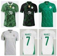 Yetişkin Çocuk Seti 2021 Cezayir Maillot De Futbol Futbol Formaları 2 Yıldız Ev Beyaz Mahrez Bounedjah Bouazza 20/21 Cezayir Erkekler Üniforma