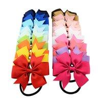 Fashions 20 colori Grosgrain Ribbon Baby Girls Hair Bows Fascia per bambini Neonato e bambini Accessori per capelli