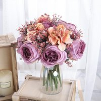 Decorative Flowers & Wreaths Artificial Fake Plant Flower Handwriting Rose Grass Wedding Celebration Christmas Gift Bedroom Dining Room Deco