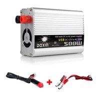Veículo 500W Inversor Car Power Inversor Conversor DC 12V para AC 220V Adaptador USB Transformador de tensão portátil Carregadores de carro livre