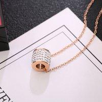 كامل الماس الصغيرة الخصر التيتانيوم الصلب قلادة تنوعا قصيرة المرأة قلادة الترقوة سلسلة الرقبة الملحقات الذهب