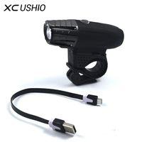 XC Ushio Su Geçirmez Bisiklet Işık 200LM USB Şarj Edilebilir Bisiklet LED Ön Işık 4mode Bisiklet Bisiklet Ön Güvenlik Uyarı Lambası