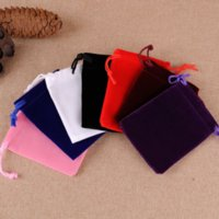 Bolsas de veludo Bolsas de jóias sacos de cordão para jóias Presente Cosméticos Embalagem Preto Vermelho Branco azul 5x7 7x9cm 8x10 10x15 10x20