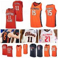 Üniversite Basketbol Illinois Mücadele Illini Jersey Üniversitesi 11 Ayo Dosunmu 21 Kofi Cockburn 1 Trent Frazier 44 Adam Miller Andre Curbelo