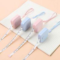 Mini cinta métrica Ruler retráctil portátil Niños altura de la altura del centímetro de la pulgada del rollo de la cinta de las muchachas Gifts Herramientas de costura