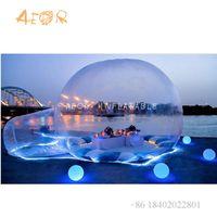 Tienda de burbujas clara transparente inflable para la familia Camping / inflable tienda de tiendas de tiendas de campaña Sala de espectáculos